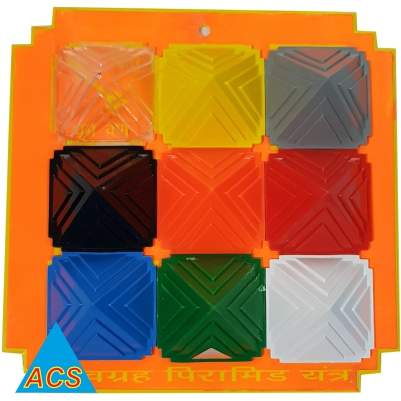 ACS Pyramid Navgrah Set - I  Square Plate