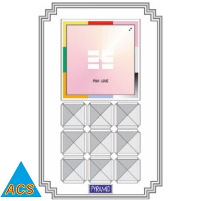 ACS Pyramid Feng Shui - Yellow - Health  - 720