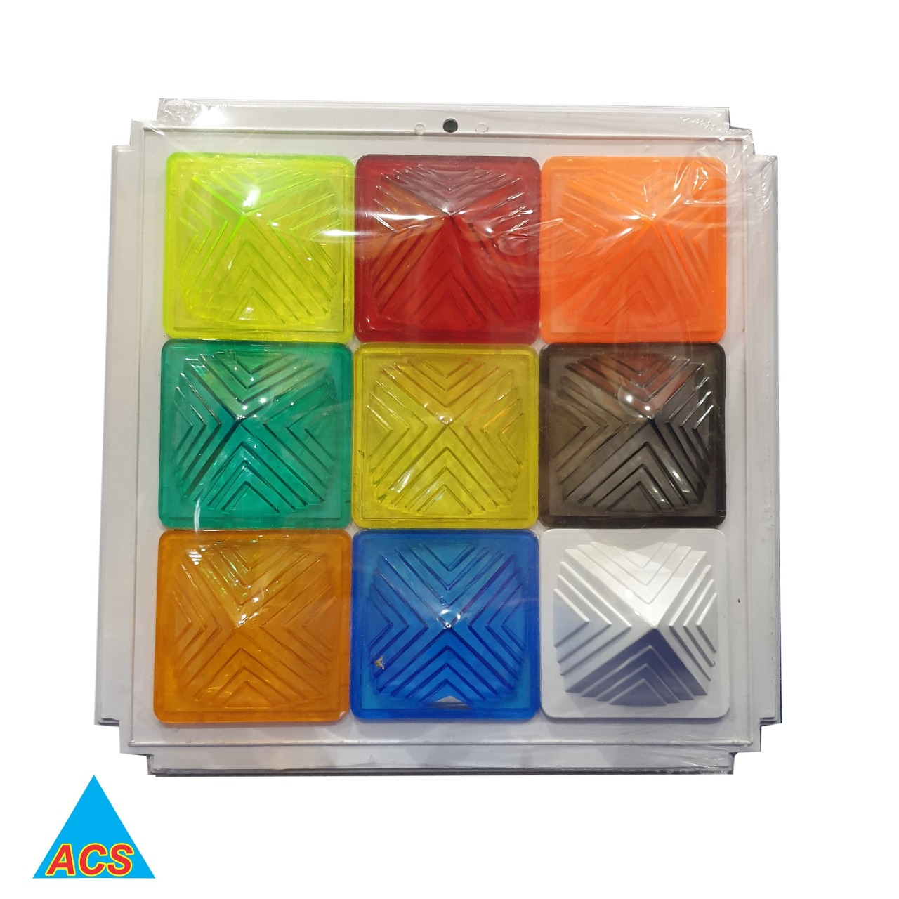 ACS Pyramid Navgrah Set - III Square Plate  - 720