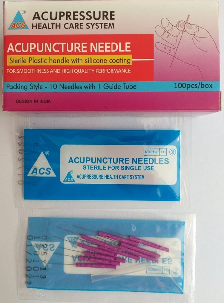 ACS Acupuncture Needles Plastic 100 - 1''/.25x25  - N13