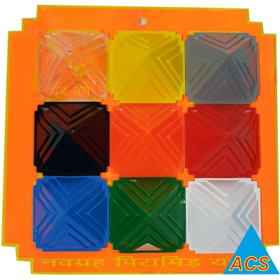 ACS Pyramid Navgrah Set - II Square Plate  - 720