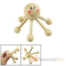 Kekara Massager - Octopus 6 Legs - Wooden  - BHS